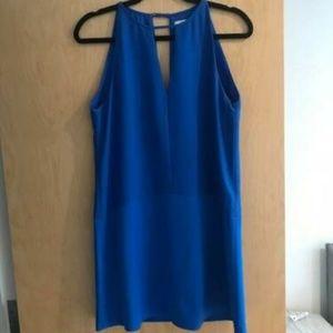 Electric blue Parker v-neck dress. Like new!